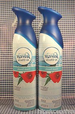 2 Febreze Air Effects GREEK SEASIDE Air Refresher Room Spray
