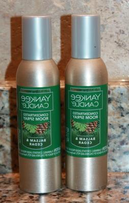 2 Yankee Candle BALSAM & CEDAR Concentrated Room Spray Air F