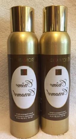 2 Cans Aromatique CREME CARAMEL Decorator Room Fragrance Spr