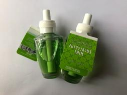 2 X  Pack NEW EUCALYPTUS MINT Bath & Body Works WALLFLOWER R