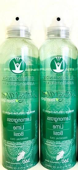 3 Gurunanda 6.75 Oz Aromatherapy Lemongrass Lime Basil Natur