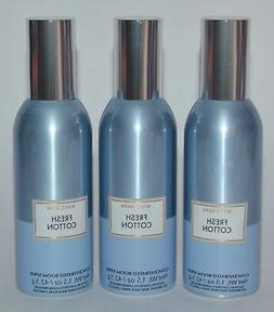 3 BATH & BODY WORKS FRESH COTTON CONCENTRATED ROOM SPRAY PER