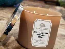 BATH & BODY WORKS MARSHMALLOW PUMPKIN LATTE SCENTED CANDLE 3
