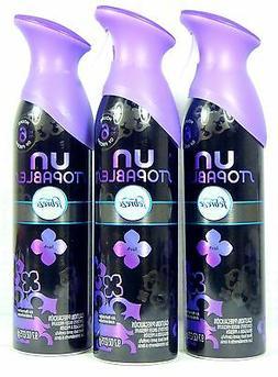 3 Cans Febreze UNstopables LUSH Febreze Air Freshener 6 Hr F