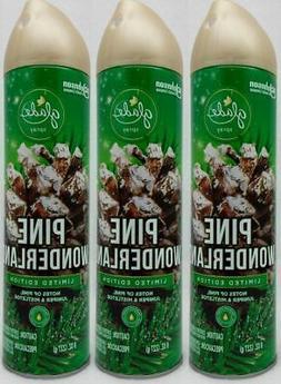 3 Glade PINE WONDERLAND Pine Juniper & Mistletoe Room Spray