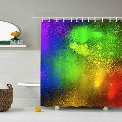 PQFLICS 3D Digital Printing Animals Spray Flowers Multicolor