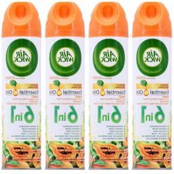 4 Air Wick Essential Oils 6 in 1 HAWAI'I Aerosol Room Spra