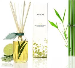 LOVSPA Bamboo Citrus Essential Oil Reed Diffuser Set Zesty W