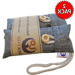 ODOR Absorber Activated Charcoal Bamboo Deodorizer Bag. NATU