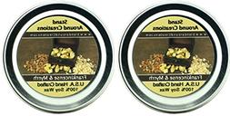 Set of 2- 2 oz.- each. Premium 100% All Natural Soy Wax Arom