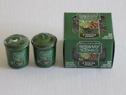 Yankee Candle Balsam & Cedar Tea Light Candles, Festive Scen