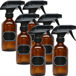 6 Pack Firefly Craft Amber Glass Spray Bottles with Chalkboa