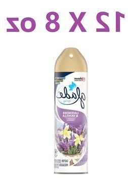 Glade Air Freshener, Room Spray, Lavender & Vanilla, 8 Oz X