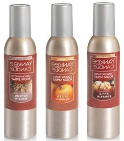 Yankee Candle 3 Pack Autumn Favorites Concentrated Room Spra