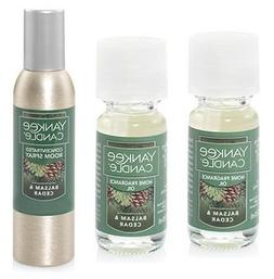 Yankee Candle 2 Pack Balsam & Cedar Fragrance Oil 0.33 Oz. a
