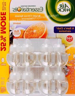 Air Wick Bright Citrus Splash Essential Scented Oils, 8 Refi