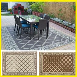 Reversible Mats 119127 Outdoor Patio 9-Feet x 12-Feet, Brown