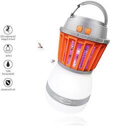 DOBMIT Bug Zapper Lantern, 2 in 1 Outdoor Mosquito Killer Re
