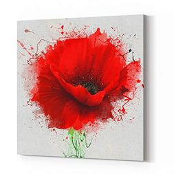 Rosenberry Rooms Canvas Wall Art Prints - Beautiful Red Popp