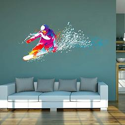 StickersForLife cik114 Full Color Wall Decal Snowboarding Sn
