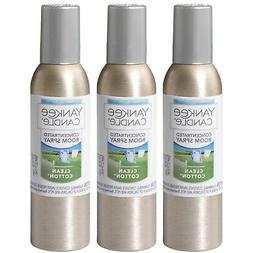 Yankee Candle Concentrated Room Spray 3-PACK  Clean Cotton
