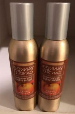 Yankee Candle Concentrated Room Spray Spiced Pumpkin 2 Pack