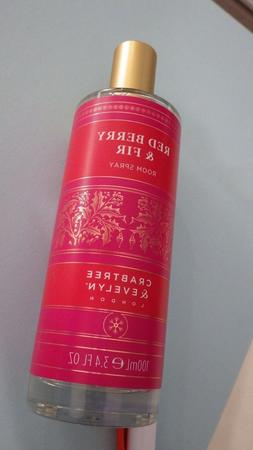 Crabtree & Evelyn RED BERRY & FIR Holiday Room Spray Home Fr