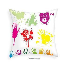 VROSELV Custom Cotton Linen Pillowcase Graffiti Street Hand
