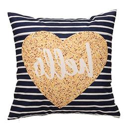 XUANOU Decorative Upholstery Cushion Cover Cozy Throw Pillow