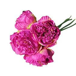 Leewos Hot Sale ! Floral Wedding Bouquet, Artificial Silk Fa