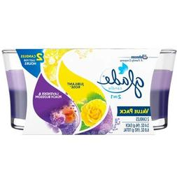 byGlade Glade Candle, 2 in 1: Jubilant Rose and Lavender & P