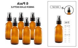 Katzco Mist Spray/Glass Medicine Bottle, Amber Boston Brown