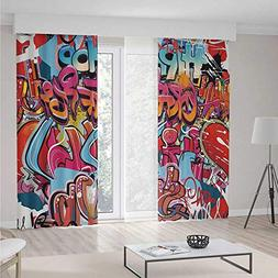 iPrint Graphic Decor Blackout Curtain,Hip Hop Street Culture