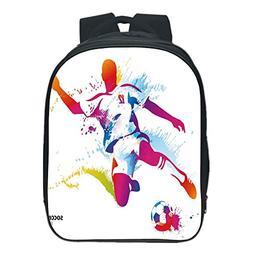 iPrint Pictures Print Design Kids School Backpack 84c1cf40b2be9