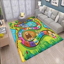 Kids Activity Room Home Bedroom Carpet Floor Mat A Day in a