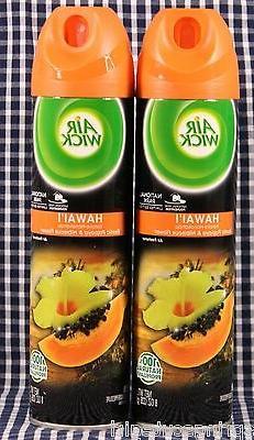 2 AIR WICK HAWAII Exotic Papaya & Hibiscus Flower Air Freshe