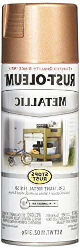 Rust-Oleum 286564 Stops Rust Metallic Spray Paint, 11 oz, Ro
