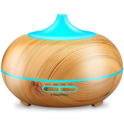 URPOWER Aromatherapy Essential Oil Diffuser 300mlWood Grai