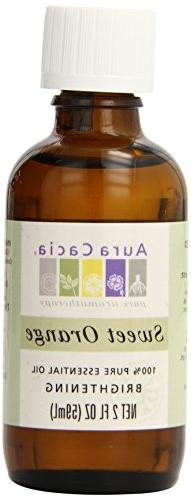 Aura Cacia Essential Oil, Brightening Sweet Orange, 2 fluid