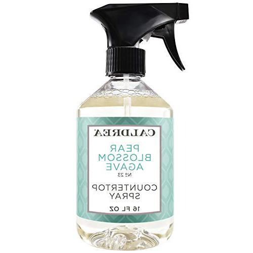 Caldrea Pear Blossom Agave Countertop Spray, 16 Fluid Ounce