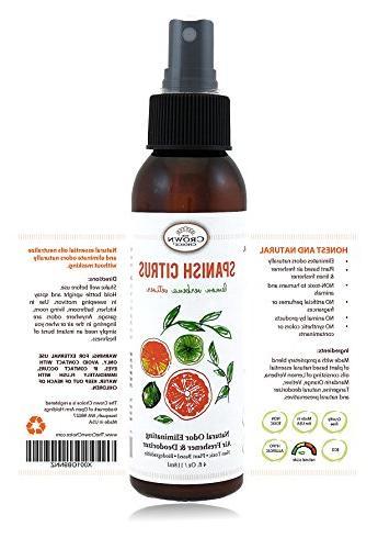 NATURAL Deodorizer Air | Lemon Citrus Verbena Freshner for Odor using