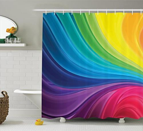 abstract home decor shower curtain