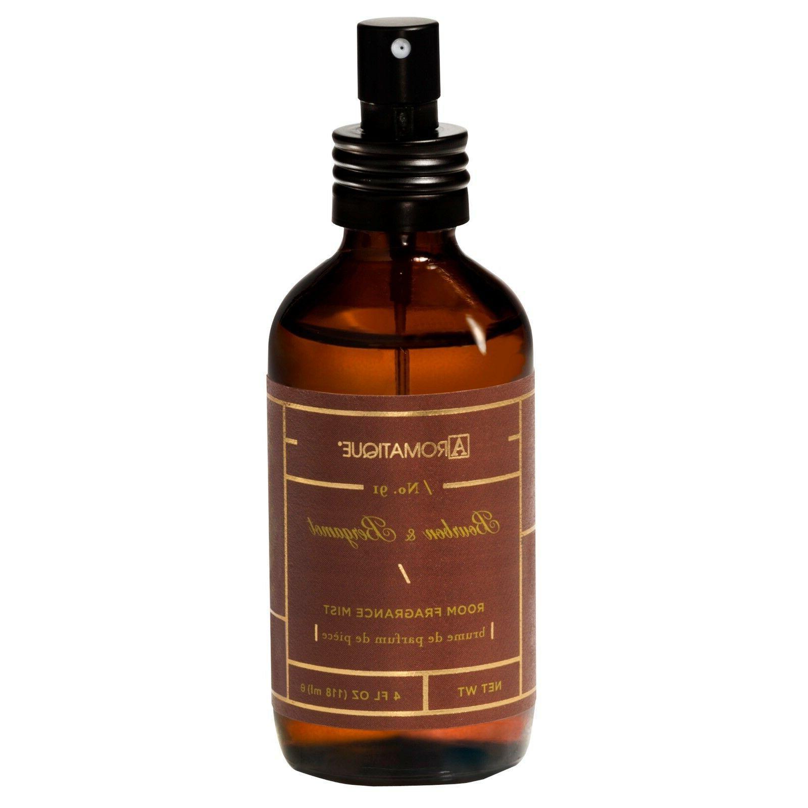 Aromatique Bourbon Bergamot Pump Room Spray 4 oz - Brown Gla