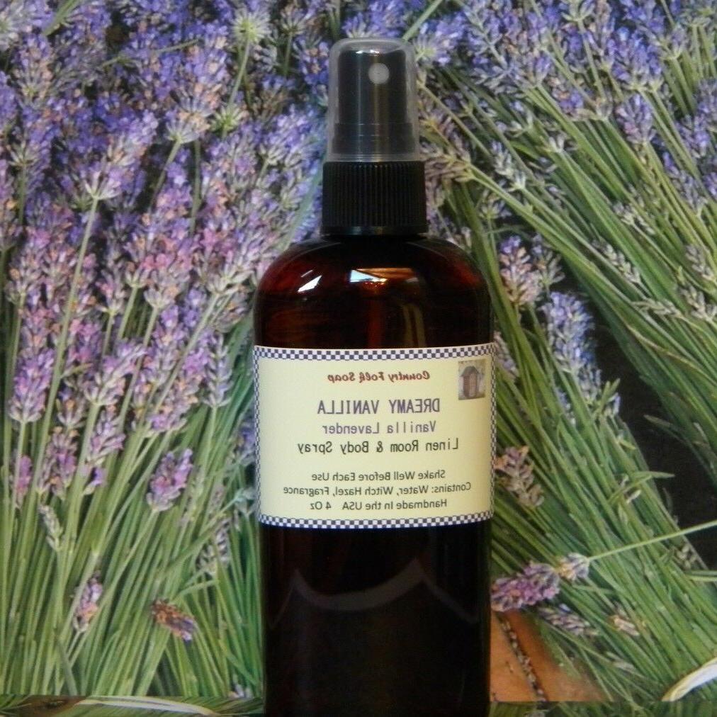 DREAMY VANILLA Lavender & Vanilla Linen Fragrance Air