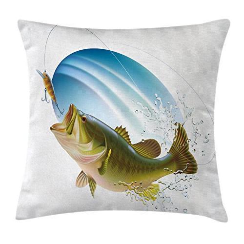 fishing decor throw pillow cushion