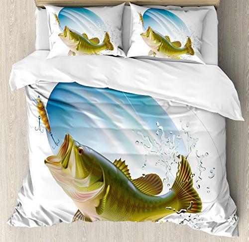 fishing duvet cover set king