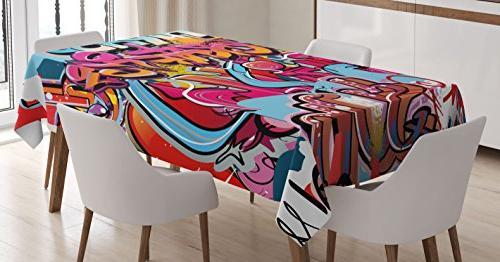 graphic decor tablecloth