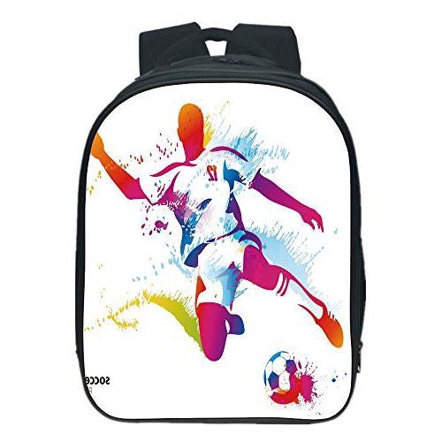 cb71c2dd25bb iPrint Pictures Print Design Kids School Backpack,Teen Room