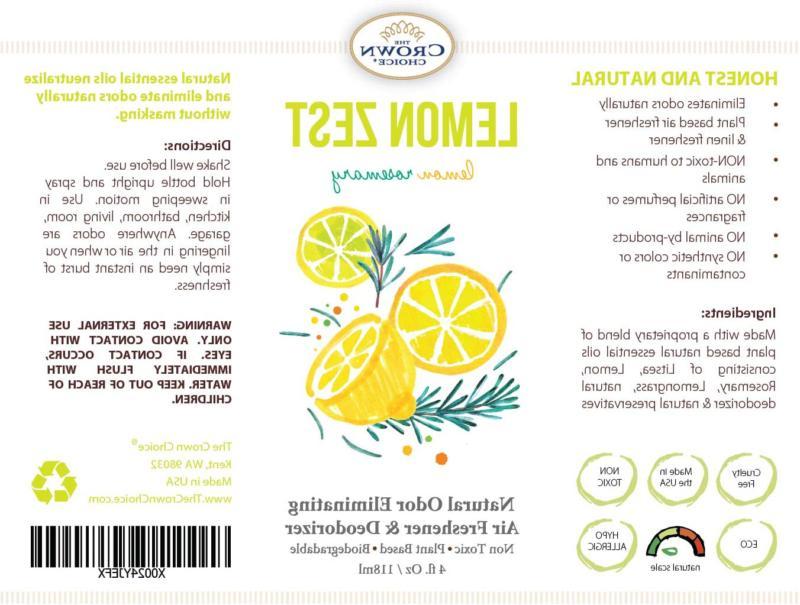 Lemon Room Spray Aromatic | Rosemary Essen