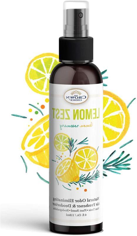 Lemon Zest Linen Room Spray Natural Aromatic Mist | Rosemary Essen